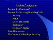 Lecture 5 - business credits