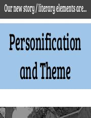 KG. 10th, STUDENTS, Short Stories, 10.30.17, Personification and Theme Notes, _There Will Come Soft