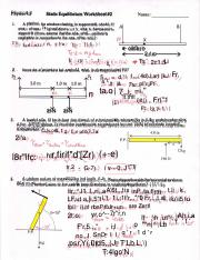 Static Equilibrium Answer key.PDF
