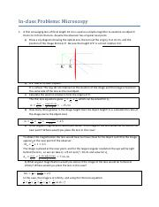 Worksheet Problems- Microscopy (with solutions) (1)