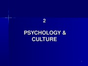 2 Psychology and Culture