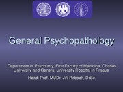 General Psychopathology-1