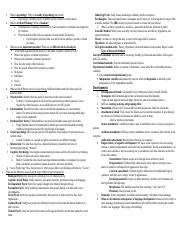 Study guide for exam one