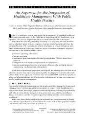 An Argument for the Integration of Healthcare Management With Public Health Practice.pdf