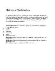 Retirement Plan Selection.docx
