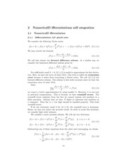 Numerical Fall 2014 Lecture 8, Numerical Differentiation Richardson Extrapolation