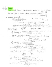 Lecture Notes on Mass of Solutions and Molarity