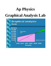 Ap Physics Graphical Analysis Lab.docx