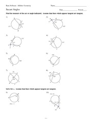 Printables Inscribed Angles Worksheet inscribed angles notes kuta software infinite geometry name 4 pages math 9 secant worksheet solutions