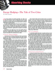 Energy Hedging - The Tale of Two Cities