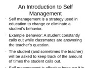self management PPT