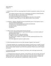 Study Questions ch 14