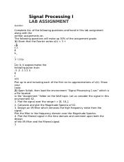Assignment solution-dsp.docx