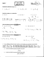 math time test worksheets