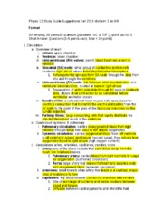 Physio 12 Study Guide Suggestions Fall 2015 Midterm 2 on 9