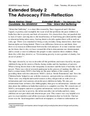 Global Perspective - advocacy film essay