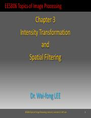 Lecture 3 Intensity Transformation and Spatial Filtering v1.2.1
