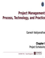Lecture 7 - Project Scheduling