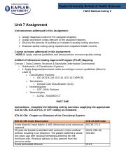 Medical Coding 2 assignment 7.docx