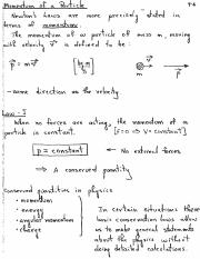 Momentum of a Particle review