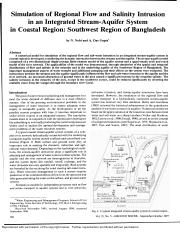 Simulation of regional flow and salinity intrusion in an integrated stream-aquifer system in coastal