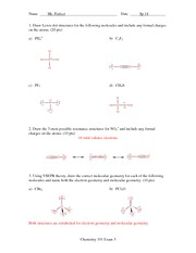 Exam 3 Solution Spring 2014 on General Chemistry
