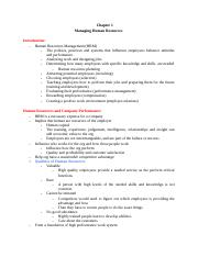 Ch.1 Managing Human Resources .docx