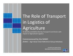 The Role of Transport in Logistics of Agriculture.pdf