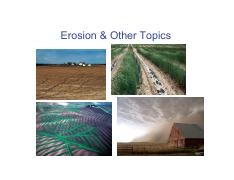 CH 17_Soil Erosion and its Control