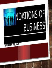 FOUNDATIONS OF BUSINESS GROUP PROJECT