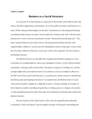 Business as a Social Structure.docx