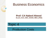 Lecture 4 - Production Costs(1)