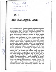 The Baroque Age (1)