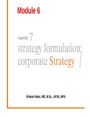ESLSCA-STRATEGIC MANAGEMENT-6-CORPORATE.ppt