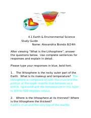 4.1 Earth & Enviromental Science Study Guide .docx