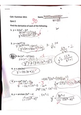 Quiz 2 derivatives
