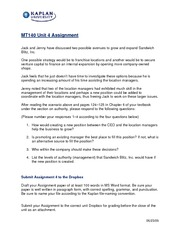unit 2 mt140 Below is an essay on sandwich blitz unit 7 assignment from anti essays, your  source for research papers, essays, and term paper examples.