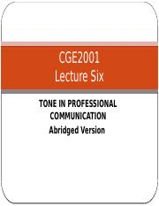 Abridged Version Lecture 6 Tone in Professional Communication.pptx