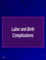 Labor and Delivery Complications Student Version-2.pptx