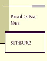 CBC_Plan and cost basic menus.ppt
