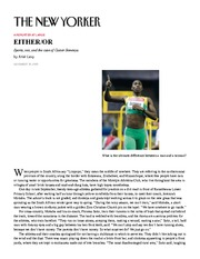 Sports, sex, and the runner Caster Semenya - The New Yorker