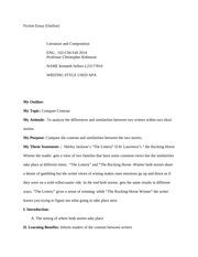 short fiction essay outline