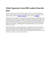 What Separates Great HR Leaders from the Rest.docx