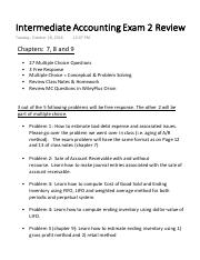 Intermediate Accounting Exam 2 Review Final.pdf