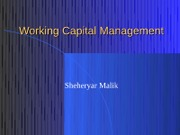 10. Working Capital Management