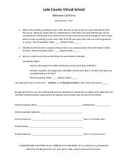 welcome call form