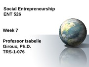 Week 7-Social Entrepreneurship-Giroux
