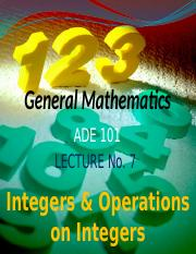 ADE Lecture Integer -7