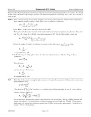 Homework 11 Solution on Electricand Magnetic Phenomena