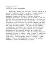 Project Review 1
